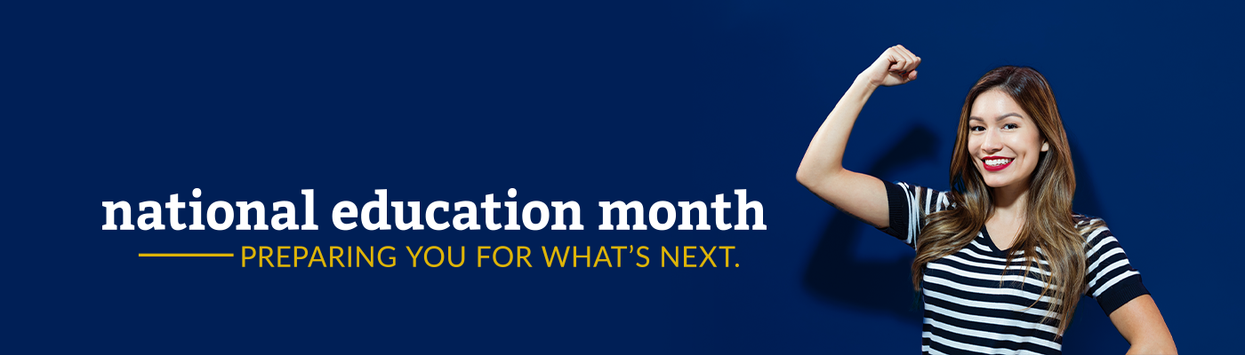 National Education Month banner