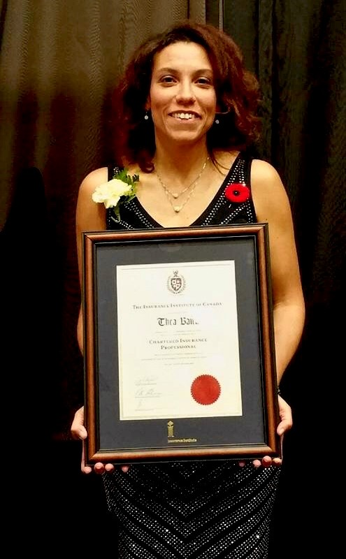 Thea Baird holds CIP certificate